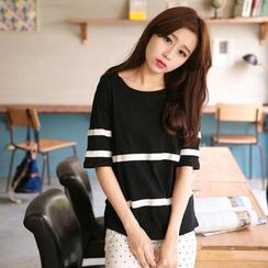 Tokyo Fashion - Short-Sleeve Striped T-Shirt