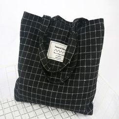 Ms Bean - Check Knit Tote Bag