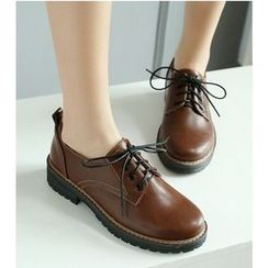 Freesia - Chunky Heel Oxfords