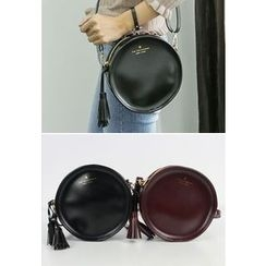 REDOPIN - Tassel-Detail Round Shoulder Bag
