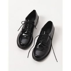 FROMBEGINNING - Round-Toe Vintage Oxfords