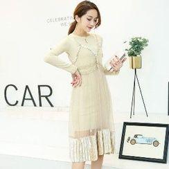 Romantica - 套装: 连衣裙 + 背带网纱连衣裙