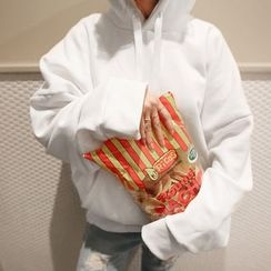 NANING9 - Drawstring Hooded Pullover