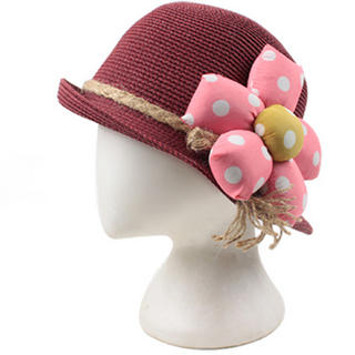 Momiton - Flower-Accent Straw Hat