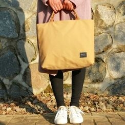 BagTown - Canvas Zip Laptop Bag
