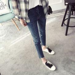 Qimi - Raw Hem Jeans