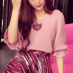 Hidari - Elbow-Sleeve Sweater