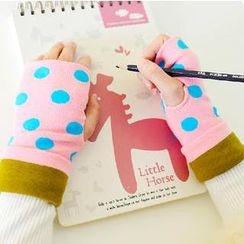 Cutie Bazaar - Polka Dot Fingerless Mittens