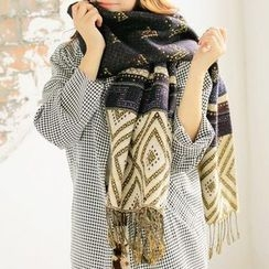 Rita Zita - Fringed Patterned Scarf