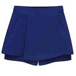 FURIFS - 纯色裹式裙裤