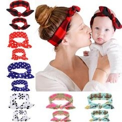Toppin - Baby Bow-Accent Head Band