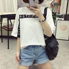 Ukiyo - 字母中袖T恤