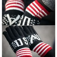 Fireon - Lettering Knit Gloves