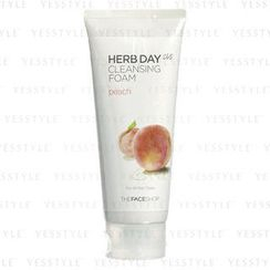 The Face Shop - Herb Day 365 Cleansing Foam (Peach)