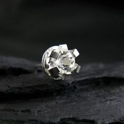 Sterlingworth - Hand Made White Topaz Single Stud earring
