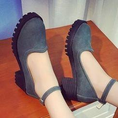 QQ Trend - Block Heel Pumps
