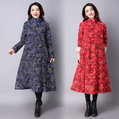 Yeeya - Print Frog Button Coatdress