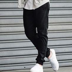 SeventyAge - 隨性舒適棉麻材質休閒縮口褲