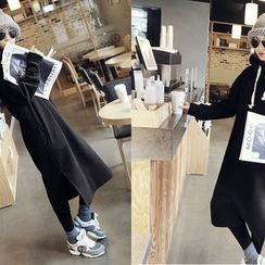 NANING9 - Hooded Long Dress