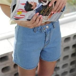 PENNY BY - High Waist Denim Shorts
