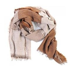 deepstyle - Two Tone Fringed Scarf