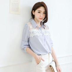 Tokyo Fashion - Lace-Yoke Blouse