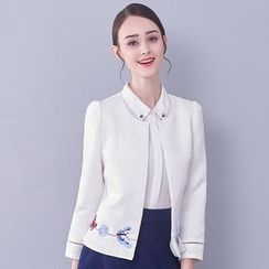 Affogato - Open Front Embroidered Jacket