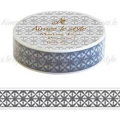Aimez le style - Aimez le style Masking Tape Primaute Regular Batik Cross