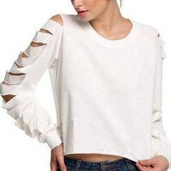 Rebecca - Cutout Long-Sleeve T-shirt