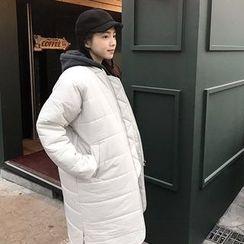 Seoul Fashion - Zipped Midi Padded Coat
