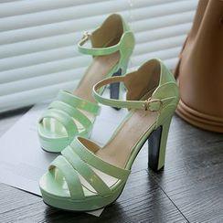 缤纷女鞋 - 高跟凉鞋