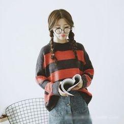 Polaris - Stripe Knit Top