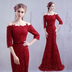 Gracia - Lace Ball Gown