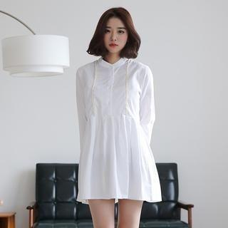 Envy Look - Cotton Mandarin-Collar Dress