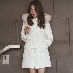 lilygirl - 毛毛连帽夹层夹克