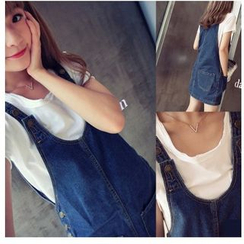 Denim Fever - Denim Pinafore Dress