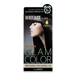 The Saem - Silk Hair Glam Color Speedy Cream (#1N Deep Black)