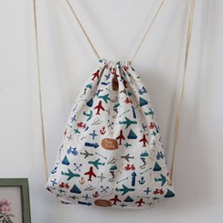 TangTangBags - Drawstring Printed Backpack