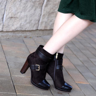 59 Seconds - Suede Buckled Ankle Boots