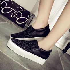 Solejoy - Sequined Loafers