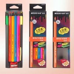 Chise - Fluorescent Coloured Pencil Set