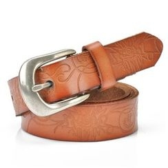 HANYI - Genuine-Leather Embossed Belt