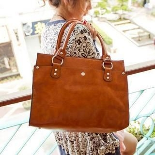 M.R. - Faux Leather Tote