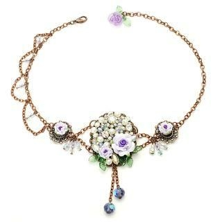 Fit-to-Kill - Unique romantic lilac rose choker
