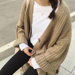 BZY - 粗針織長外套