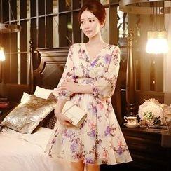 Dabuwawa - Floral A-Line Dress