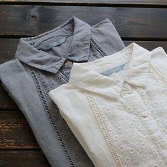 YOYO - Long-Sleeve Embroidery Blouse