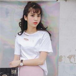 Porta - Ripped Short Sleeve T-Shirt