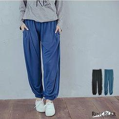 RingBear - Loose Fit Cuff Gather Pants