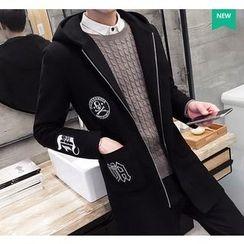 Fisen - Applique Hooded Coat